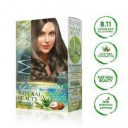 Maxx Deluxe - Maxx Deluxe Natural Beauty Saç Boyası 8.11 Yoğun Açık Küllü Kumral