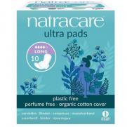 Natracare - Natracare Organic Cotton Cover Ultra Pads 10 Adet - Long