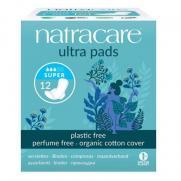 Natracare - Natracare Organic Cotton Cover Ultra Pads 12 Adet - Super