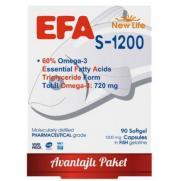 New Life - New Life EFA S-1200 Balık Yağı İçeren Takviye Edici 90 Kapsül
