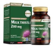 Nutraxin - Nutraxin Herbal Milk Thistle 200mg 60 Kapsül