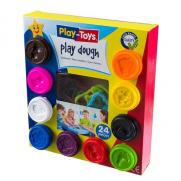 Playtoys - Playtoys 10+14 Set Oyun Hamuru