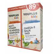 Diğer - YouPlus Kids Vitamin ve Mineral Kompleksi Alana Omega 3 Balık Yağı Hediye
