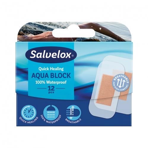 Salvelox - Salvelox Aqua Block Suya Dayanıklı Yara Bandı 12 Adet