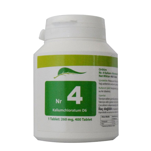SAS FARMA - Sas Farma Nr.4 Kalium Chloratum D6 400 Tablet