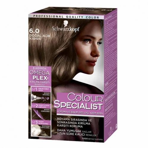 Schwarzkopf - Schwarzkopf Colour Specialist Saç Boyası 6.0 Doğal Açık Kahve