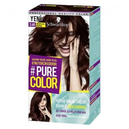 Schwarzkopf - Schwarzkopf Pure Color Saç Boyası 3.68 Böğürtlenli