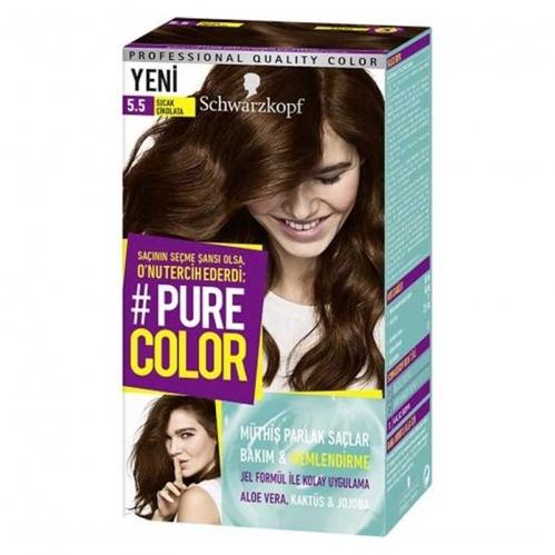 Schwarzkopf - Schwarzkopf Pure Color Saç Boyası 5.5 Sıcak Çikolata