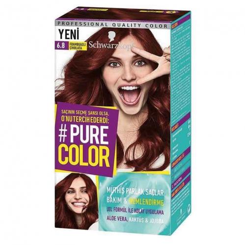 Schwarzkopf - Schwarzkopf Pure Color Saç Boyası 6.8 Frambuazlı Çikolata