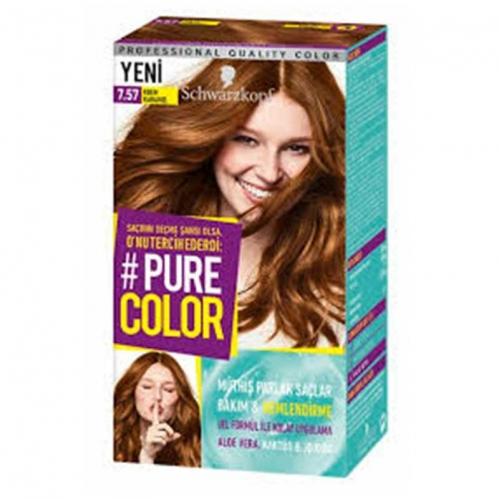 Schwarzkopf - Schwarzkopf Pure Color Saç Boyası 7.57 Krem Karamel