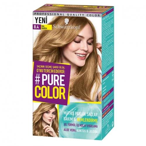 Schwarzkopf - Schwarzkopf Pure Color Saç Boyası 8.4 Bal Badem