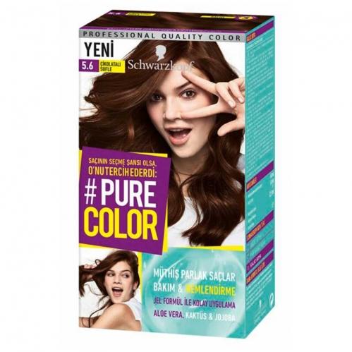 Schwarzkopf - Schwarzkopf Pure Color Saç Boyası 5.6 Çikolatalı Sufle