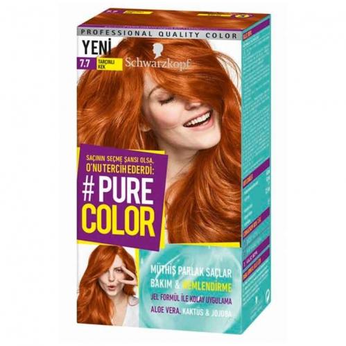 Schwarzkopf - Schwarzkopf Pure Color Saç Boyası 7.7 Tarçınlı Kek