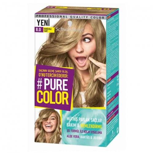 Schwarzkopf - Schwarzkopf Pure Color Saç Boyası 8.0 Vanilyalı Tart