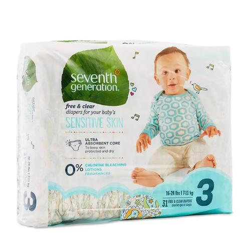 Seventh Generation - Seventh Generation Bebek Bezi-3 (7.3 - 12.7 kg) 31 Adet