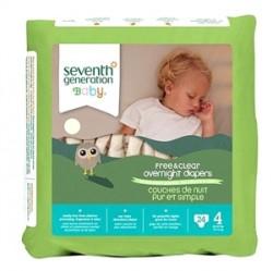 Seventh Generation - Seventh Generation Bebek Bezi-4 Gece Boyu (10.0 kg ve üstü) 24 Adet