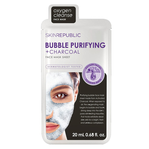 Skin Republic - Skin Republic Bubble Purifying + Charcoal Face Mask Sheet 25 ml