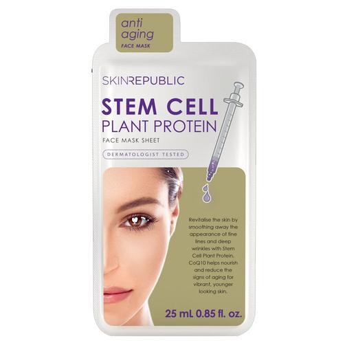 Skin Republic - Skin Republic Stem Cell Plant Protein Face Mask Sheet 25 ml