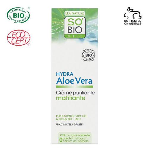 So Bio Etic Organik Aloe Vera Matlaştırıcı Gündüz Kremi 50 ml