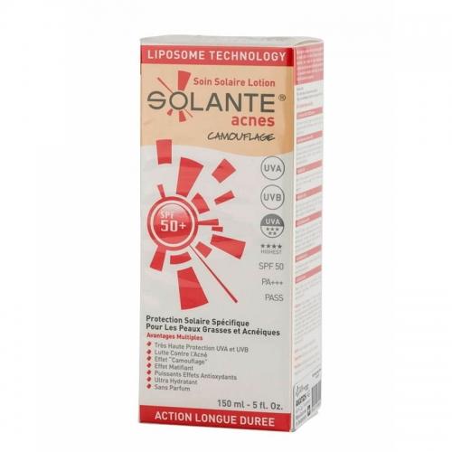Solante Acnes Tinted Losyon SPF 50+ 150 ml