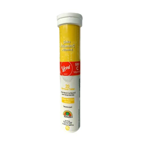 Sunlife - Sunlife Çinko Vitamin C Vitamin E 20 Tablet