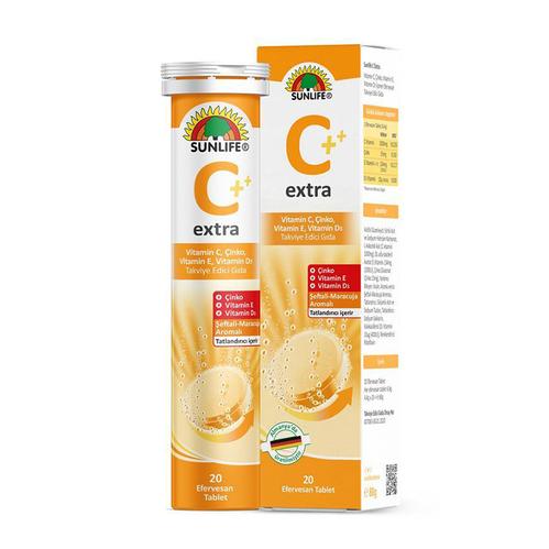 Sunlife - Sunlife Extra C Vitamin C 20 Efervesan Tablet
