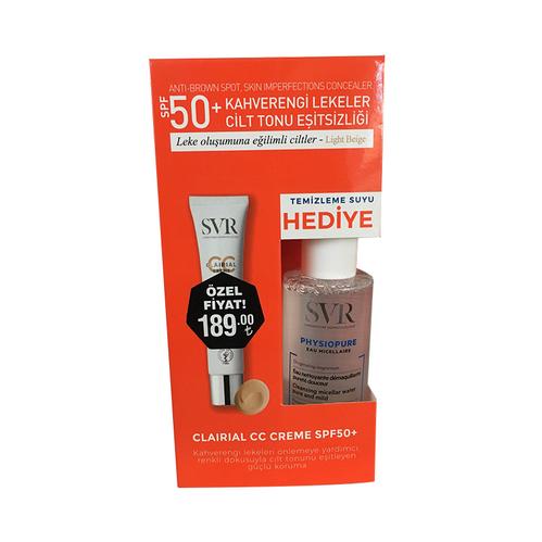 SVR - SVR Clairial CC Creme SPF+50 - Physiopure Temizleme Suyu 75 ml HEDİYE