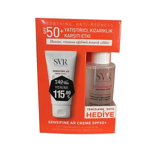 SVR - SVR Sensifine AR Creme SPF+50 Güneş Kremi - Sensifine AR Temizleme Suyu 75 ml HEDİYE