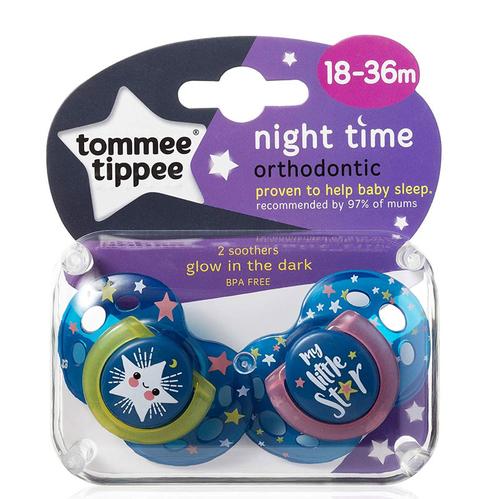 Tommee Tippee - Tommee Tippee Night Time Emzik 2 Adet - 18-36 Ay