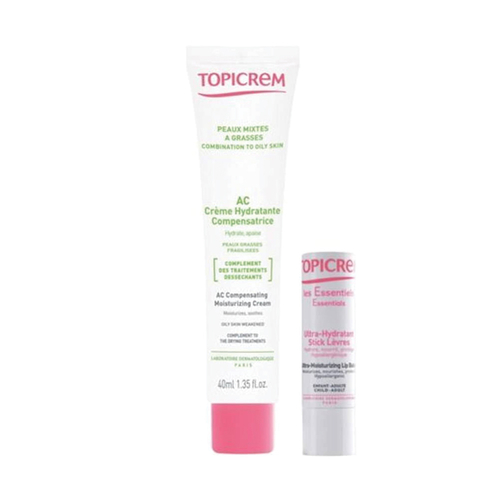 Topicrem - Topicrem AC Copensating Moisturizing Cream 40 ml + Moiturizing Lip Balm HEDİYE