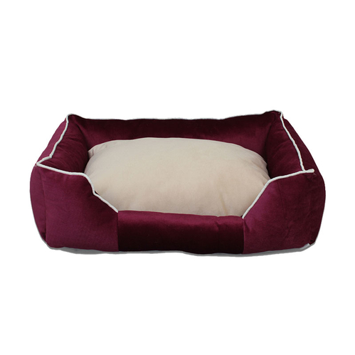 Tulyano - Tulyano Novum Kedi ve Köpek Yatağı 50x70x24 cm - Bordo