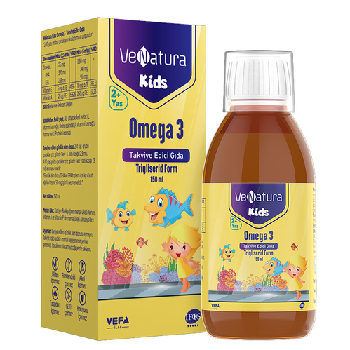 VeNatura - VeNatura Kids 2+ Yaş Omega 3 Takviye Edici Gıda 150 ml