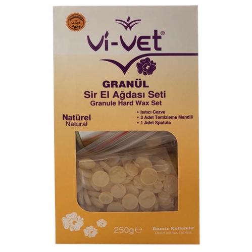 Vi-vet - Vi-vet Granül Sir El Ağdası Seti Natürel 250 gr