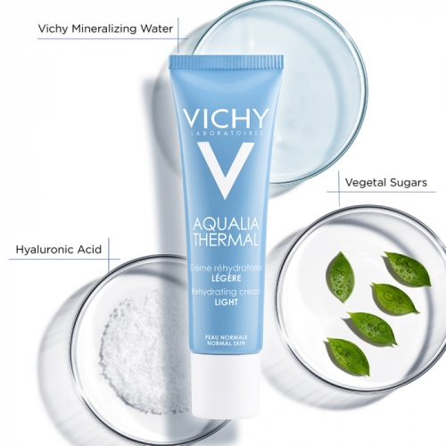 Vichy Aqualia Thermal Rehydrating Cream Light 30 ml Temizleme Jeli 2x15ml HEDİYE
