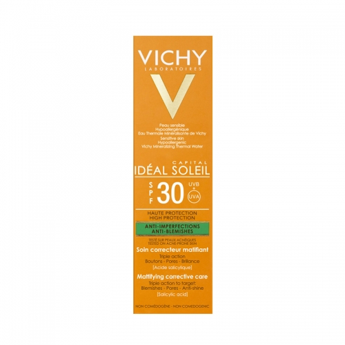 Vichy Capital Soleil Spf30+ Mattifying Corrective Care Cream 50ml