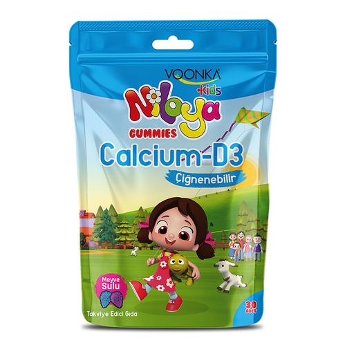 Voonka - Voonka Kids Niloya Gummies Calcium D3 Çiğnenebilir 60 Tablet - Meyve Sulu