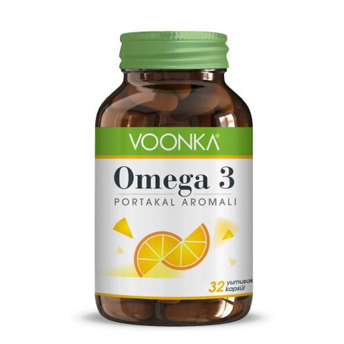Voonka - Voonka Omega 3 Portakal Aromalı Takviye Edici Gıda 32 Kapsül