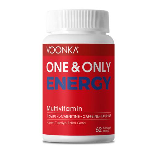 Voonka - Voonka One Only Energy Multivitamin Takviye Edici Gıda 62 Yumuşak Kapsül