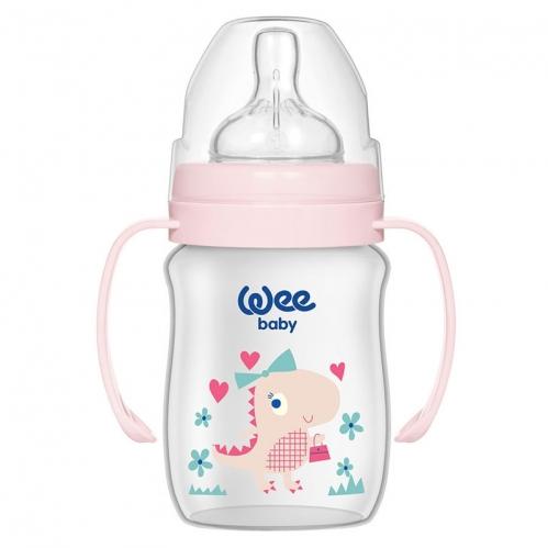 Wee Baby - Wee Baby Klasik Plus Geniş Ağızlı Kulplu PP Biberon 150 ml