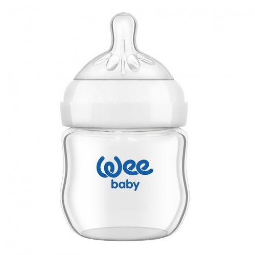 Wee Baby - Wee Baby Natural Isıya Dayanıklı Cam Biberon 125 ml