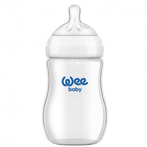Wee Baby - Wee Baby Natural Isıya Dayanıklı Cam Biberon 250 ml