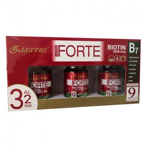 Zigavus - Zigavus Ultra Forte Biotin B7 2500mcg 30 Tablet | 3 Al 2 Öde