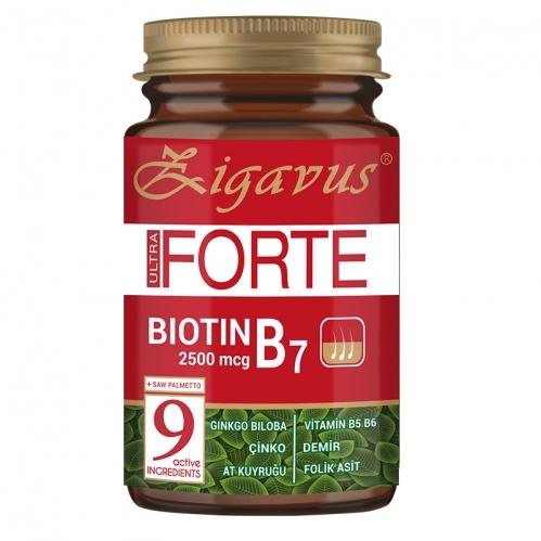 Zigavus - Zigavus Ultra Forte Biotin B7 2500mcg 30 Tablet